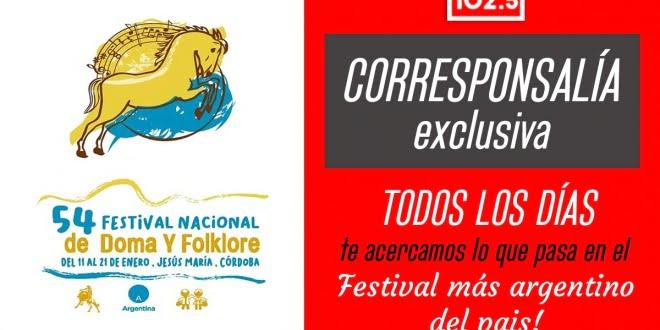 Viví el Festival de Jesús María por Radio Estación 102.5