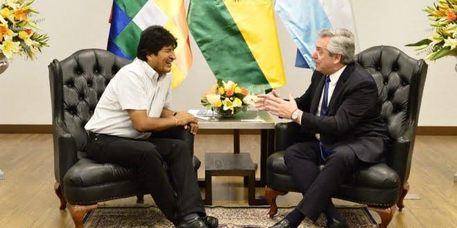 Alberto Fernández se reunió con Evo Morales este jueves en Bolivia