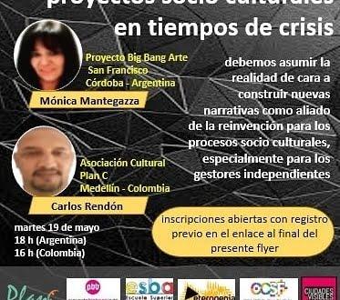 """Conversatorio de """"Proyectos socioculturales en tiempos de crisis"""""""