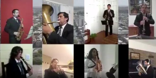 La Banda Municipal interpretó el Himno nacional argentino