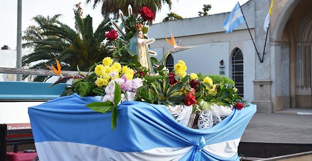 La Virgen de Luján recorrió las calles de Devoto