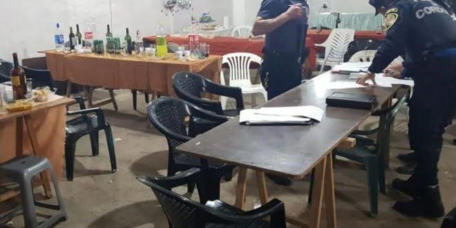 Laspiur: desarticularon fiesta con más de 20 personas
