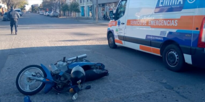 Accidente en el centro de Las Varillas