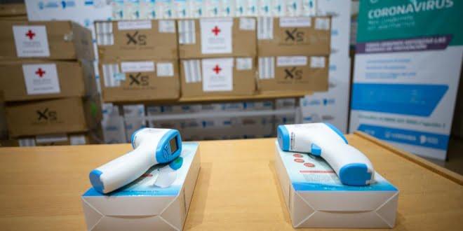 La Cruz Roja Argentina entregó 500 termómetros digitales al COE