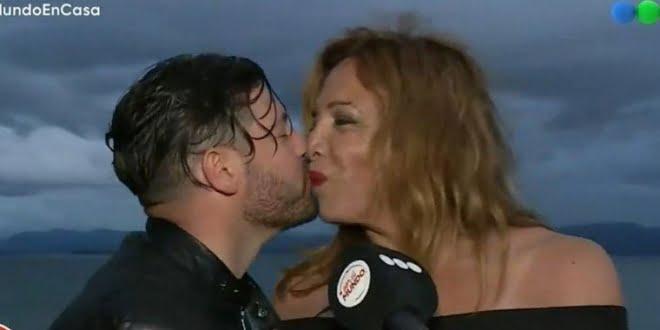 Lizy Tagliani se comprometió en vivo con Leo Alturria