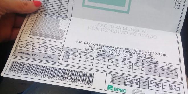 Las tarifas de Epec aumentarán 10,77% para usuarios residenciales