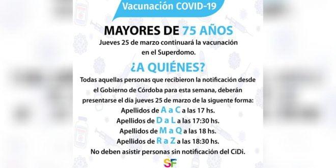 El operativo vacunación no se suspende por lluvia