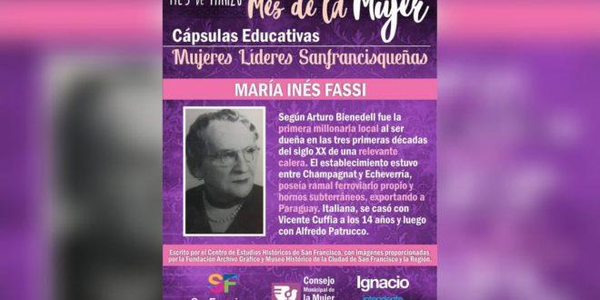 María Inés Fassi, la primer millonaria local