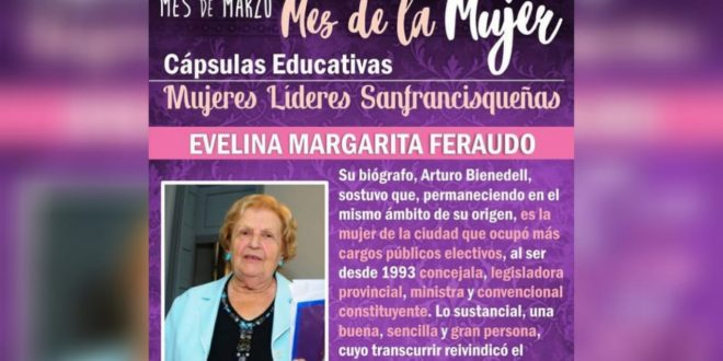Evelina Feraudo, la mujer de la ciudad que más cargos públicos ocupó