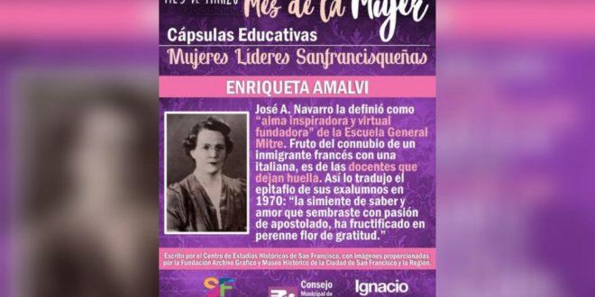 Enriqueta Amalvi, una docente que dejo huella