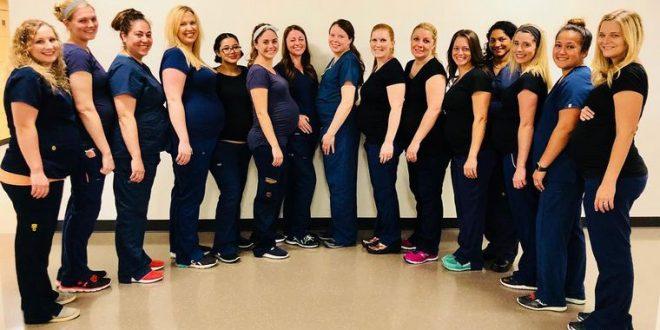 16 enfermeras de un hospital se embarazaron al mismo tiempo