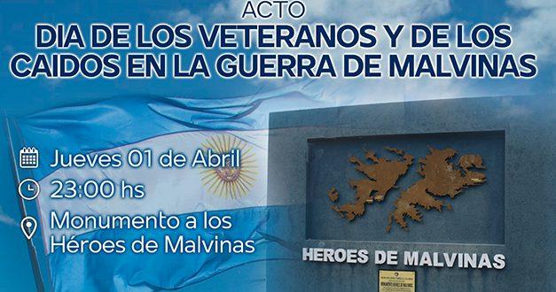 Devoto: acto en honor a los Héroes de Malvinas