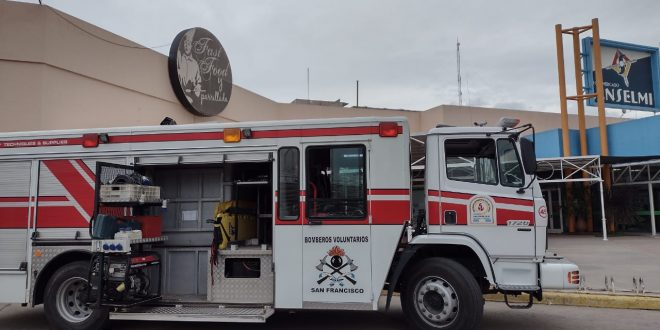 Principio de incendio en el Hipermercado Anselmi