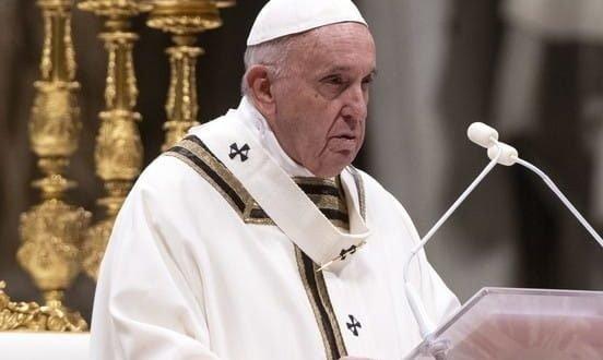 Semana Santa: sin procesión, Francisco celebró la misa del Domingo de Ramos