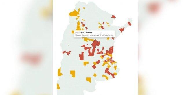 El Departamento San Justo es considerado «zona roja» por el Gobierno Nacional