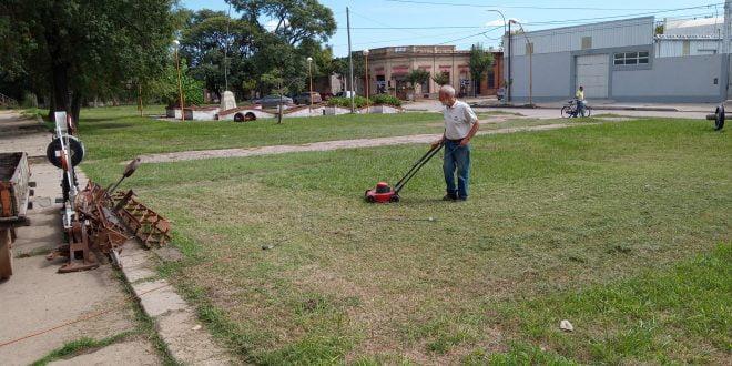 Se realizaron tareas de mantenimiento en la Comisión Pro Riel