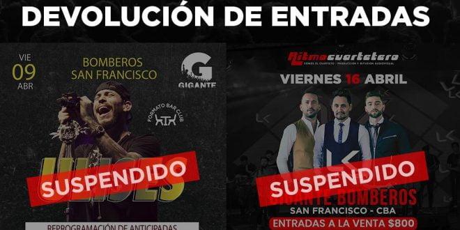 Bomberos devuelve el dinero de las entradas de los shows suspendidos