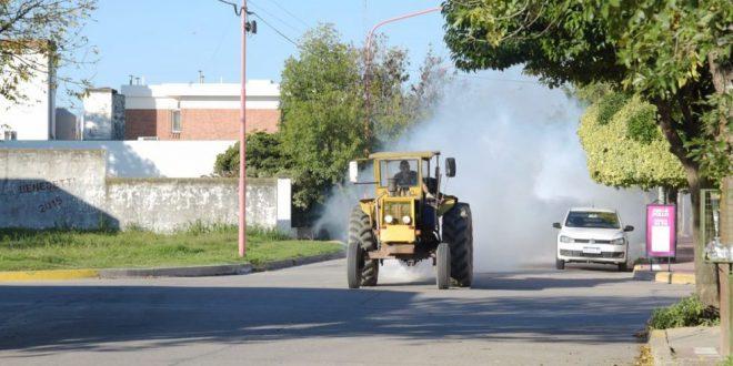 El Municipio continúa fumigando contra el Dengue en Arroyito