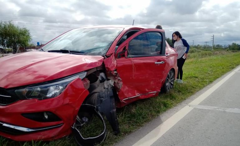 Accidente en la Ruta 158 en el acceso sur de Las Varillas