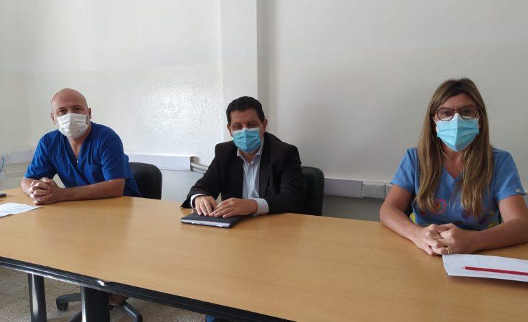Nueva carpa sanitaria para covid y el conflicto con anestesistas