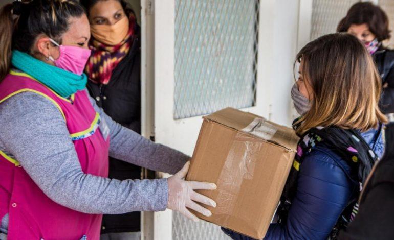 Paicor comenzó la entrega de módulos alimentarios y kits de barbijos