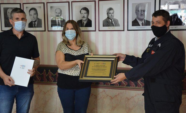 Bomberos Voluntarios de San Francisco fue condecorado por la provincia