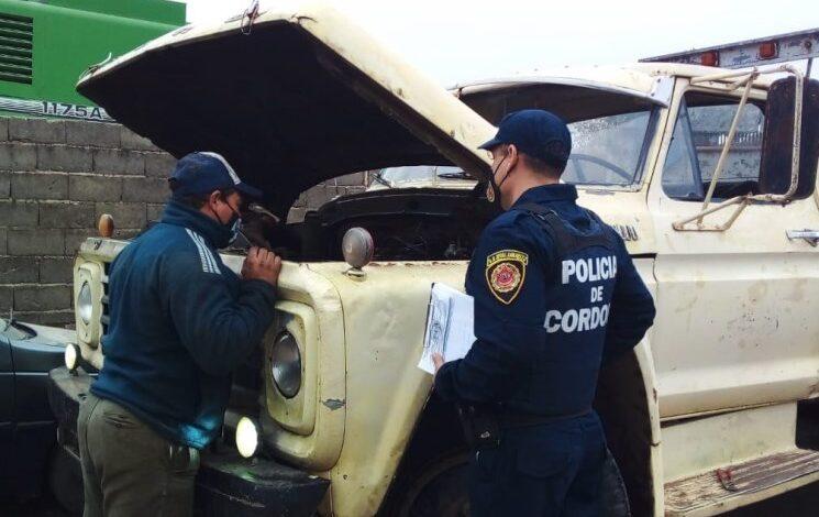 Operativos de control en talleres mecánicos del departamento San Justo