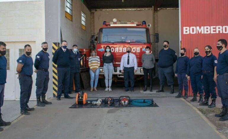Bomberos Voluntarios de Frontera recibió un kit de herramientas hidráulicas