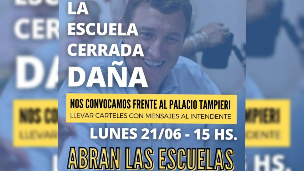 Padres Organizados protestará en frente del Palacio Tampieri