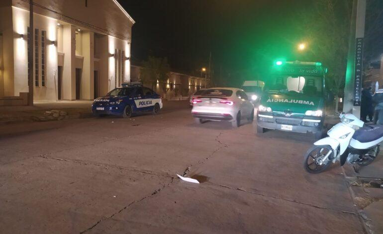 Accidente de tránsito sobre Av. Caseros frente a la Iglesia Consolata