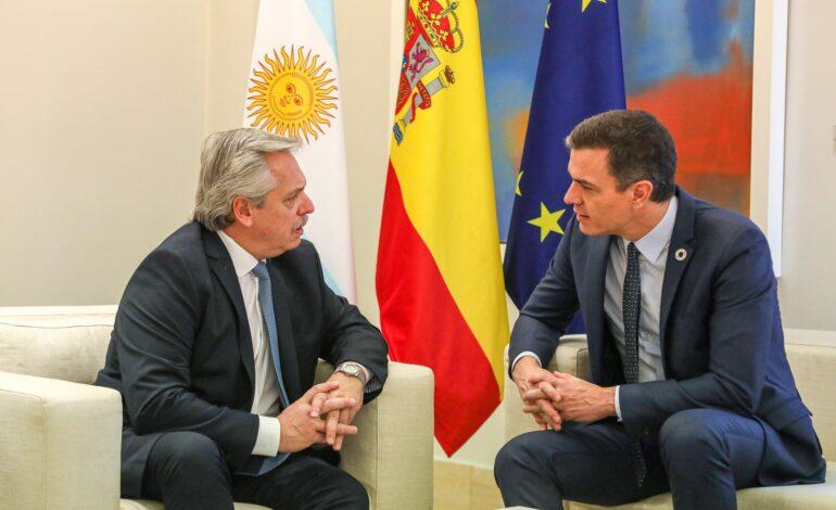 Fernández se reunirá este miércoles con su par español Pedro Sánchez