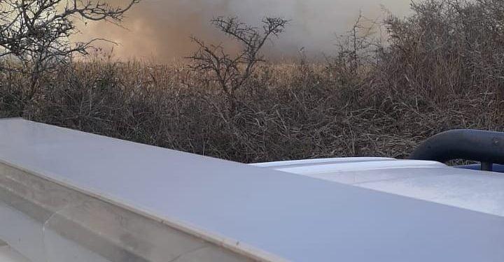 Incendio de campo: afectó 25 hectáreas de maíz sin cosechar y una cosechadora
