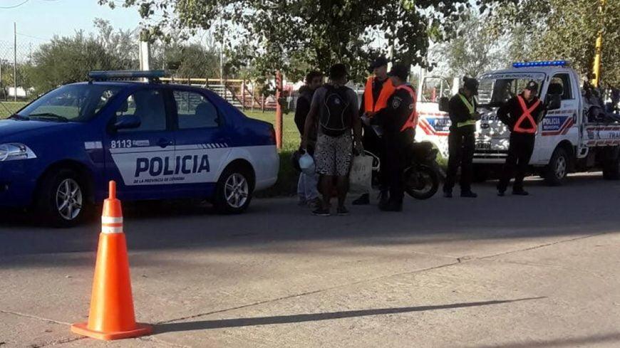 Secuestraron 35 motocicletas en un control de tránsito