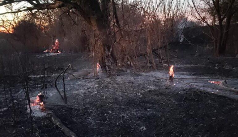 Identificaron a los presuntos autores del incendio en Malagueño