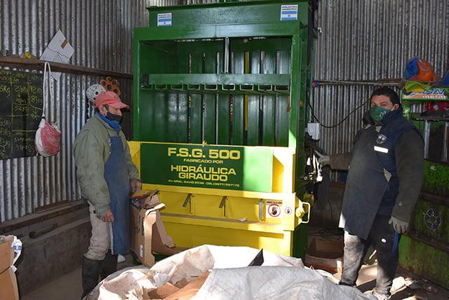 La planta de reciclado de Devoto incorporó una nueva prensa