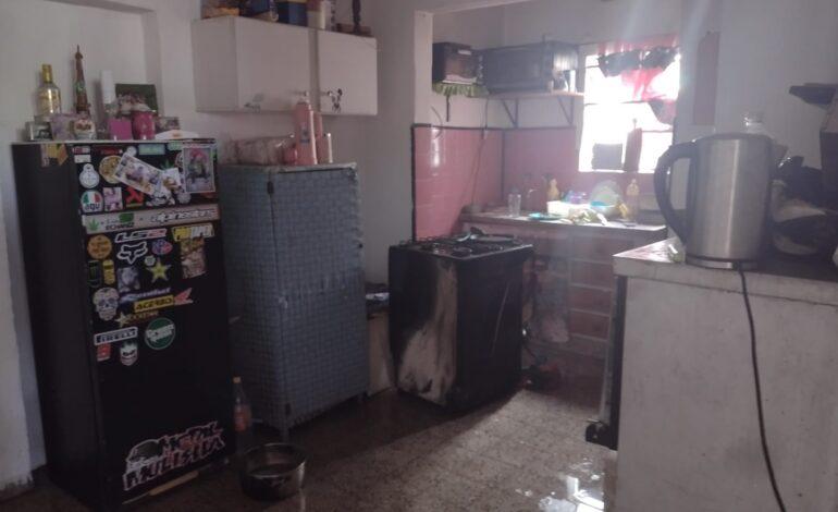 Incendio en la cocina de una vivienda