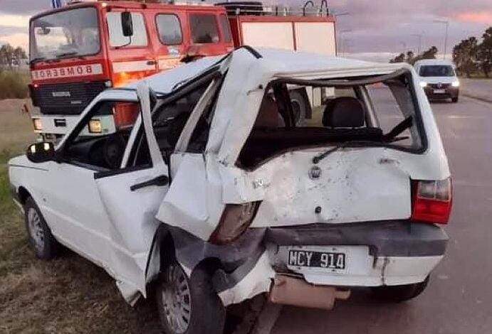 Accidente en el acceso sur de Morteros