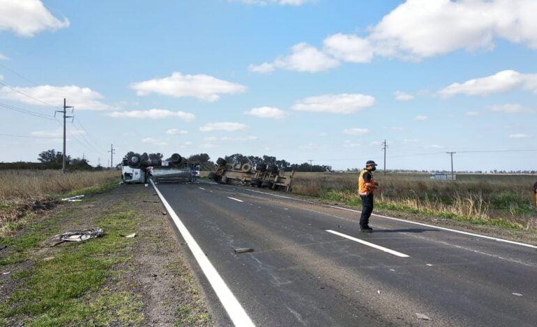 Accidente de tránsito en cercanías de Quebracho Herrado