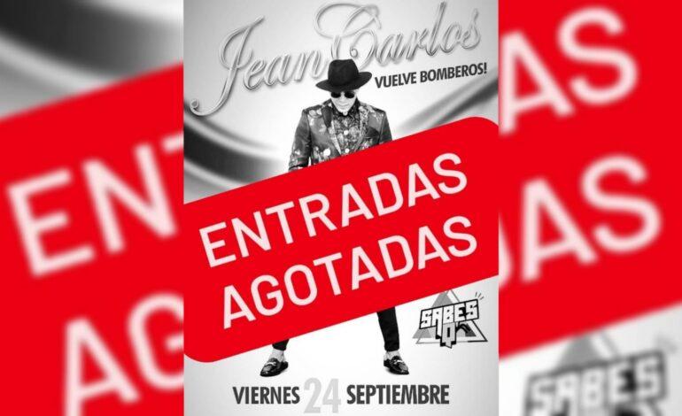 Éxito total: en 2 horas se vendieron todas las entradas de Jean Carlos