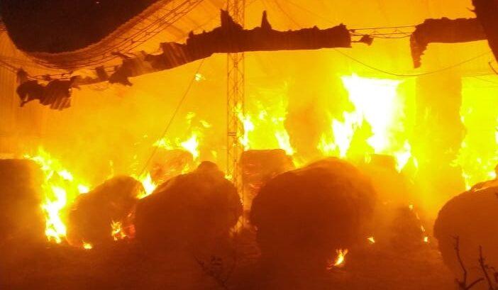 Voraz incendio en la zona rural de Quebracho Herrado